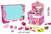 Детская кухня A306  батар, с блендером,  свет, овощи делятся на 2 части, посуда,  в коробке 44*15*32  см.