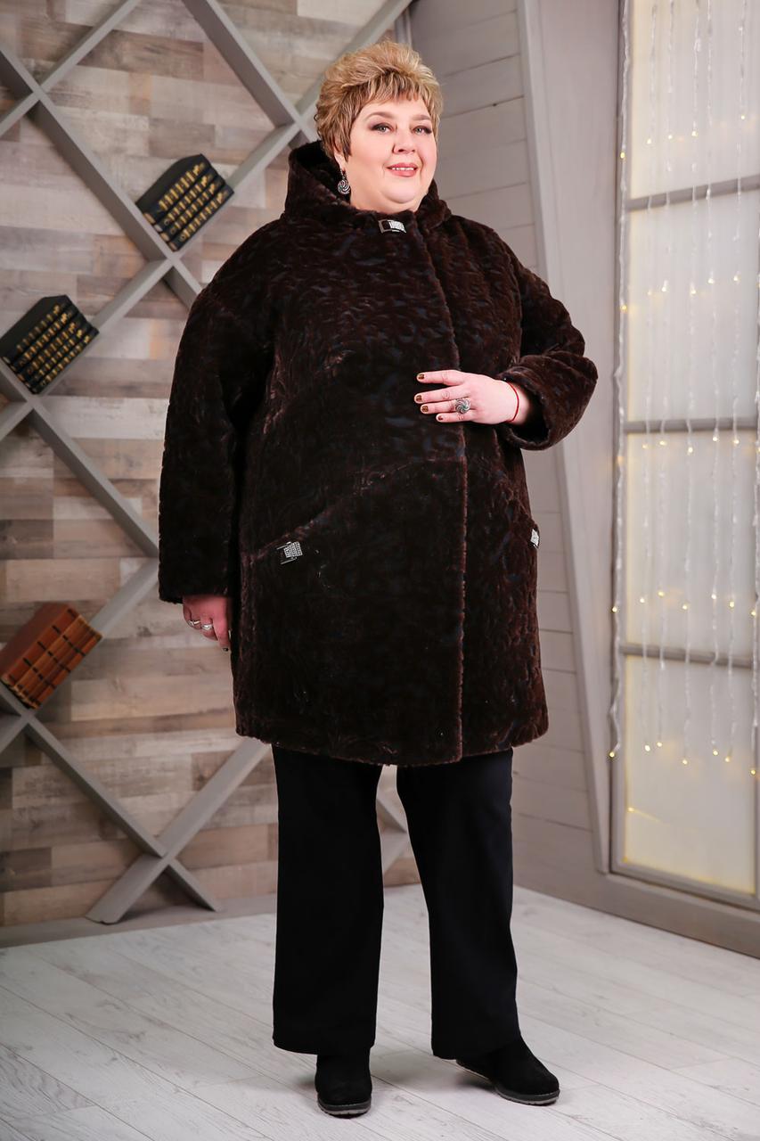 Пальто В-1087 Kelly-PL Тон 4, Очень большие размеры 64-78