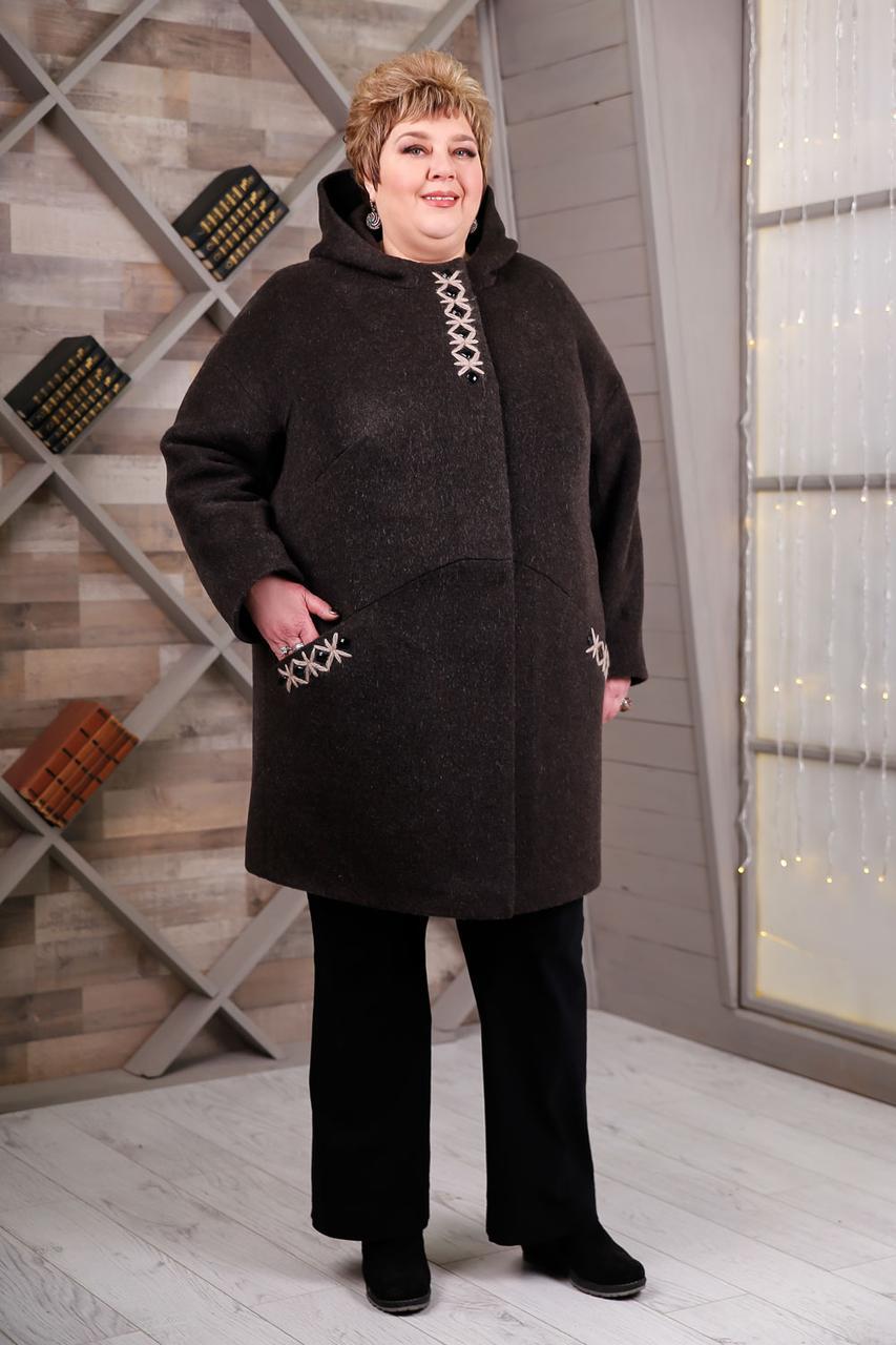 Пальто В-1087 Unito три цвета, Очень большие размеры 64-78