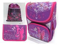 """Набор ранец ортопедический """"Little butterfly"""" JO-1703  пенал JO-17033 сумка для обуви JO-17031"""