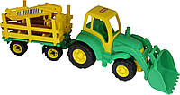 Трактор Чемпион с ковшом и прицеп-лесовоз Polesie 0483
