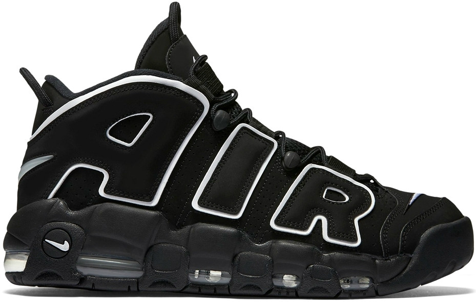 Мужские и женские кроссовки Nike Air More Uptempo Black/White