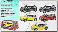 Машина металлическая KINSMART KT5042W Mini Cooper (96шт/4) в коробке 16*8*7см