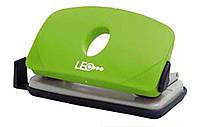 Дырокол 10 листов пластик  L1422-08 зеленый ТМ LEO