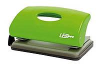 Дырокол 10 листов пластик  L1418-09 салатовый ТМ LEO