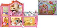 Домик OS954  2-этаж, 113 деталей, фигурки, машина, кровать, кухня, детская, ванная, кресла, в кор.