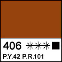 Краска акриловая художественная СОНЕТ сиена жженая 75 мл. ЗХК 351885 Невская палитра