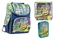 Набор 1 Вересня Turtles рюкзак 553309 , пенал 531386 , сумка 553611