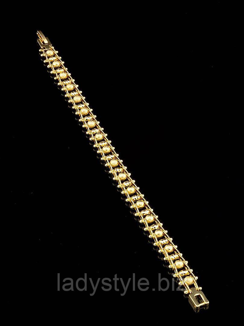 """Шикарный  позолоченный браслет   """"Гусеница"""" от студии LadyStyle.Biz"""