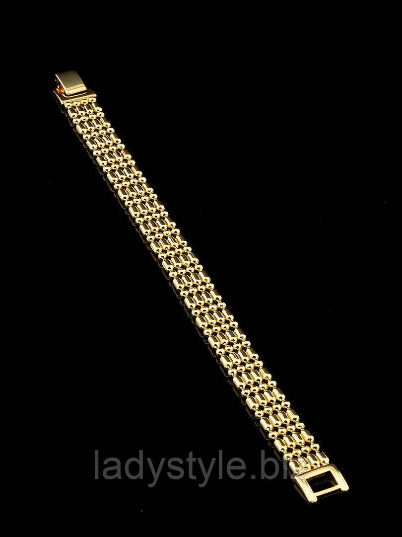 """Плетений позолочений браслет """"Мавританський"""" від студії LadyStyle.Biz"""