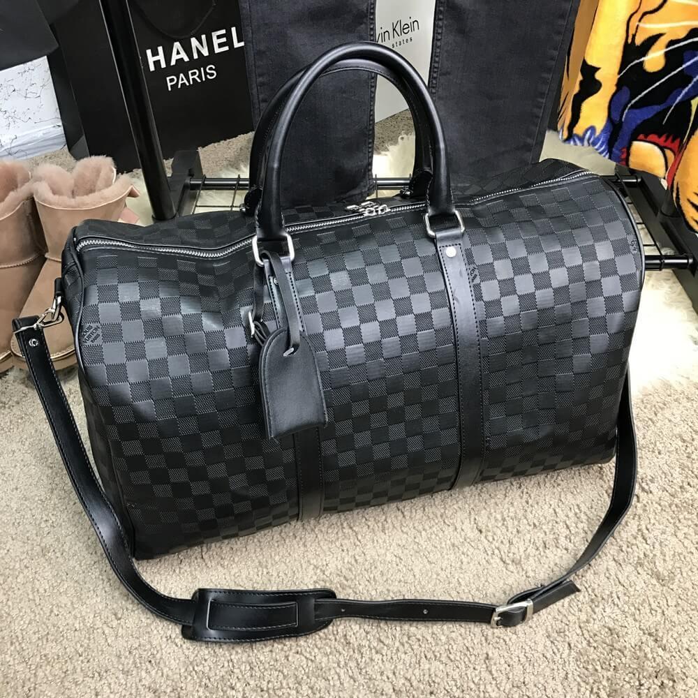 Дорожная сумка Softsided Luggage Louis Vuitton Keepall 55 Damier Infini луи  витон реплика 1c252e3081f