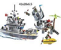 """Конструктор """"Brick"""" 819 (20шт)""""Островной форт"""" 505дет., 6+ лет, в разобр. кор. 41*28*6,5см"""