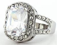 """Кольцо-перстень """"Бриллиантовый гламур"""""""