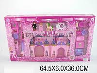 Домик CB688-18 (1111373) свет/музыка, принц, принцесса, конь, карета, 15 деталей мебели, кор. 64,5*6*36 см.