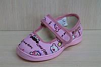 Тапочки в садик на девочку текстильная обувь Vitaliya Виталия Украина размер 19-22,5, фото 1