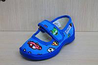 Тапочки в садик на мальчика, текстильная обувь Vitaliya Виталия Украина, размеры 19 по 22,5
