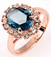 Кольцо Кейт Лондон-топаз в золоте