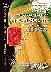 Насіння кукурудзи «Солодке дитинство» 20 г, інкрустовані
