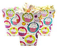 Набор коробочек для сладостей Кексы 5 шт
