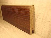 Плинтус деревянный напольный шпонированный Акация натуральная 15*70*2400мм
