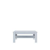 Журнальный стол белый Barry М (кофейный столик в гостевую комнату)