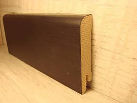 Плинтус деревянный напольный шпонированный Дуб черный 15*70*2400мм