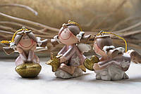 Новогодняя игрушка подвеска Ангел детки, 12 шт