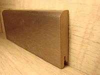 Плинтус деревянный напольный шпонированный Алюминий темный 15*70*2400мм