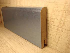 Плинтус деревянный напольный фольгированный Алюминий лайт 15*70*2400мм