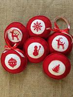 Фетровые шарики(новогодний декор-оберег)