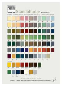 Натуральная цветная стандолевая краска Kreidezeit Standölfarbe, смешанные цвета
