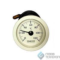Термометр капиллярный (круглый) ф 52мм., 0-120ºС. (010282)