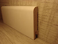 Плинтус деревянный напольный шпонированный Белый дуб RAL9003 15*70*2400мм