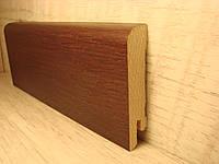 Плинтус деревянный напольный шпонированный Венге 15*70*2400мм