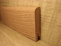 Плинтус деревянный напольный шпонированный Ясень рустик 15*70*2400мм