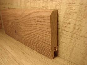 Плинтус деревянный напольный шпонированный Ясень 15*70*2400мм