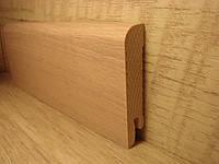 Плинтус деревянный напольный шпонированный Сосна 15*70*2400мм