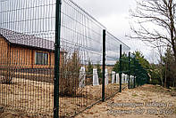 Забор из  Сварной сетки - Секции ограждения (Zn + покрытие)