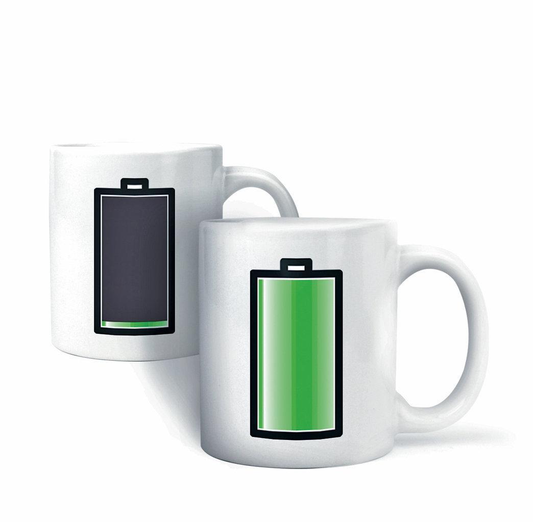 Чашка для сублимации хамелеон батарейка 330 мл