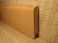 Плинтус деревянный напольный шпонированный Европейский клен 15*70*2400мм