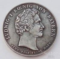 Бавария. Людвиг I Баварский. Талер 1833 г. В честь образования таможенного союза