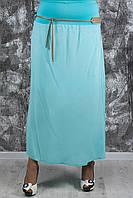 Летняя длинная юбка больших размеров