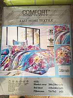 Постельное белье цветное сатин коттон. евро