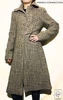 Женское теплое шерстяное пальто French Connection бежевое р. S
