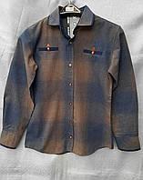 Стильная кашемировая рубашка в клетку на мальчиков 134,170 роста