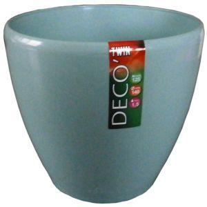 Вазон дренажный для цветов Deco Twin Нефритовый 1.5 л