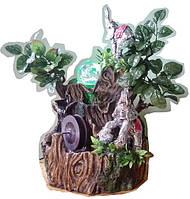 Фонтан декоративный светлая семейка Слонов на Водопад под деревом 27=22=16 СЛОН