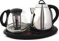 Чайный набор,заварник+чайник с электроподставкой, фото 1