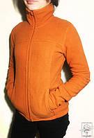 Женская флисовая спортивная кофта Rose оранжевая р. XS
