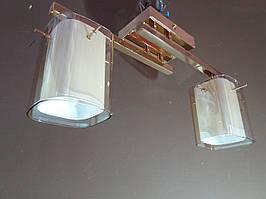 Люстра золотиста на два плафона 1129G